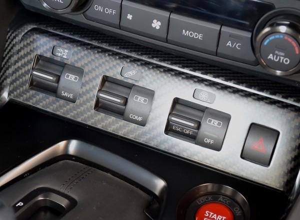 Nissan GTR Schalter Abdeckung Carbon Mittelkonsole