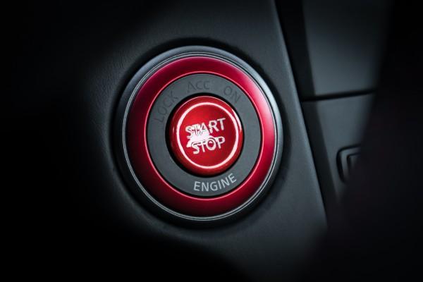 Nissan GT-R Startknopf