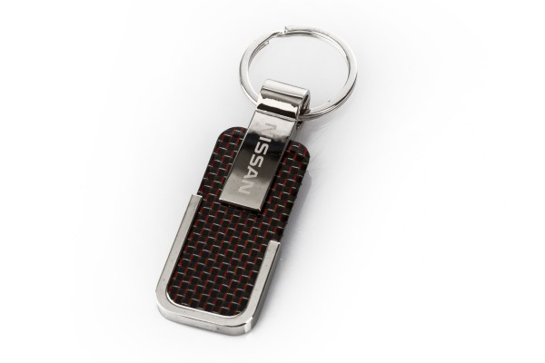 Nissan Schlüsselanhänger Carbon